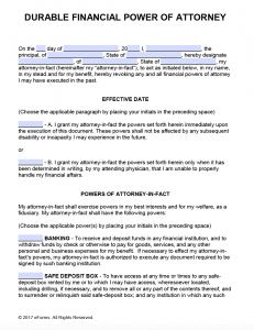 Massif image with free printable revocation of power of attorney form